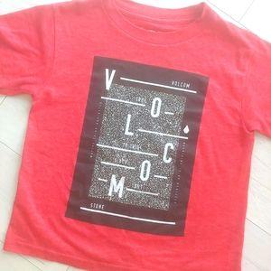 VOLCOM boys red shirt